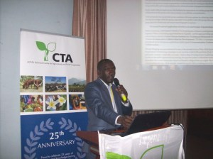 Robert Kibaya Presenting during the open space session