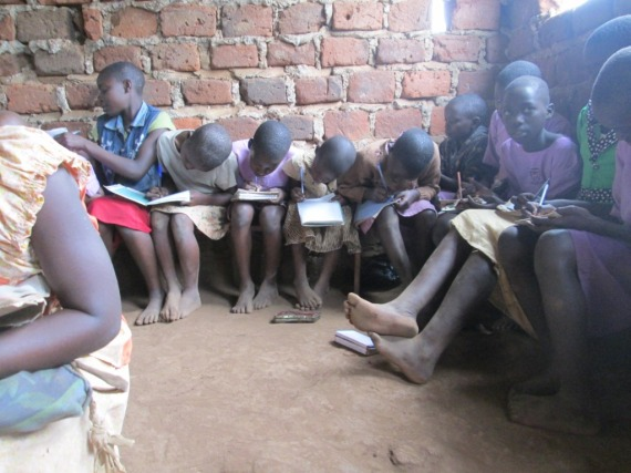 Pupils of Kibiribiri Primary School during one of their class lessons