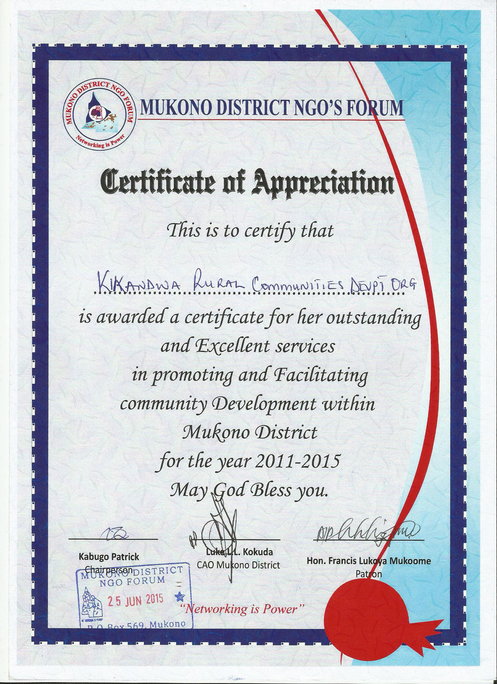 Human rights rural africa facts certificate of appreciationkirucodo xflitez Image collections